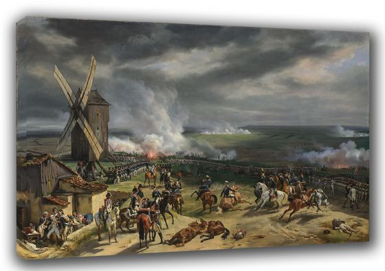 Vernet, Emile Jean Horace: The Battle of Valmy. Fine Art Canvas. Sizes: A3/A2/A1 (003478)